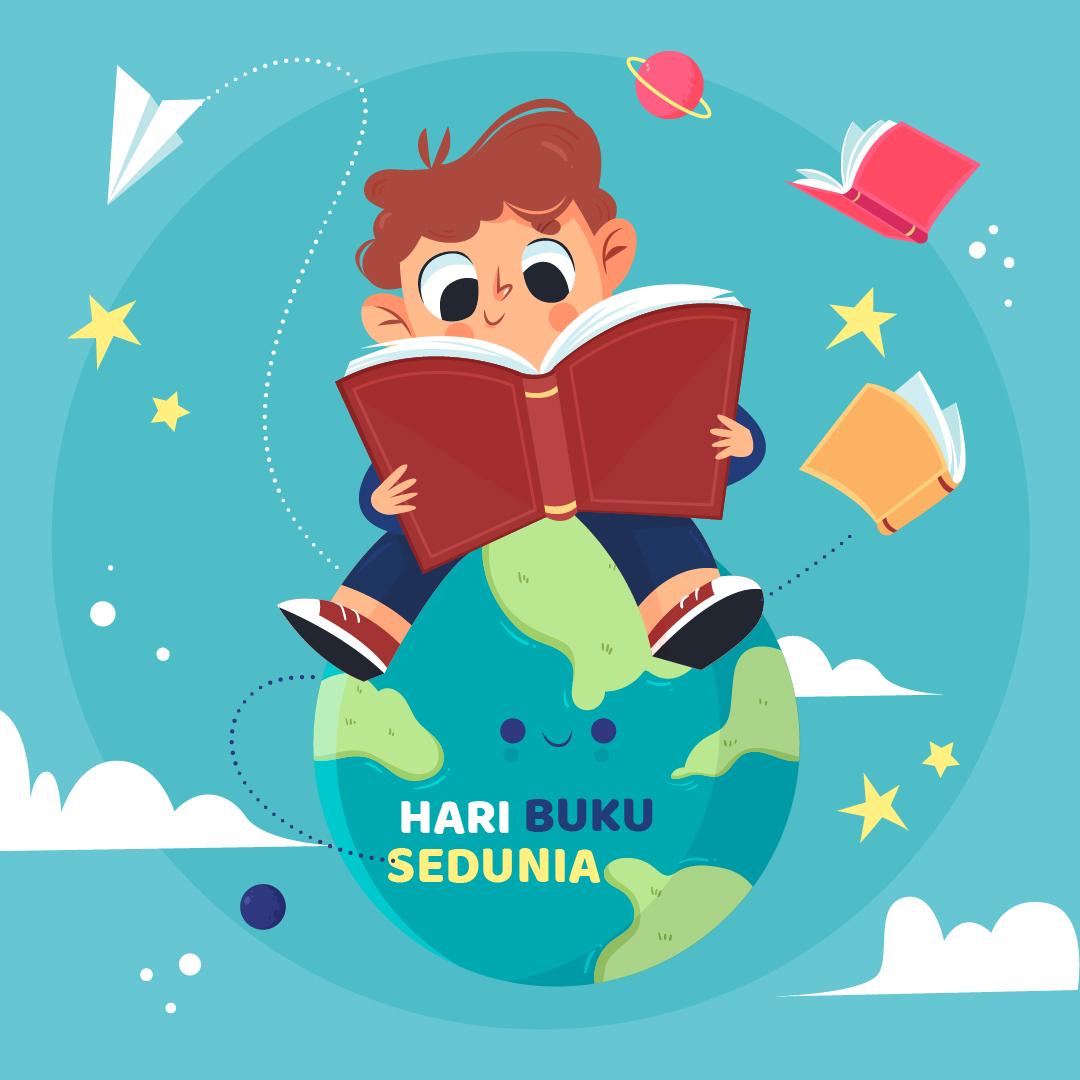 Gambar Ucapan Hari Buku Sedunia 2021