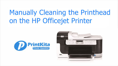 Manually cleaning printhead on HP officejet Pro printer