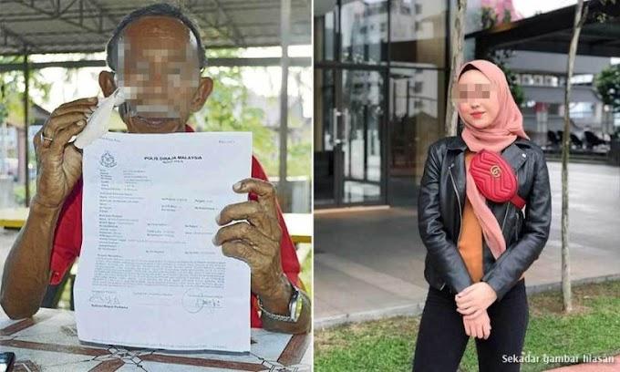 Kecewa cinta dipermain pelajar sekolah, atuk buat laporan polis