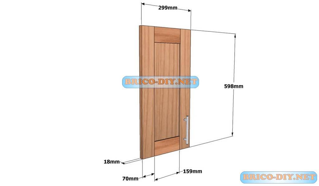 Mueble de cocina plano alacena de madera cedro 60 cm de - Puertas de cocina a medida ...