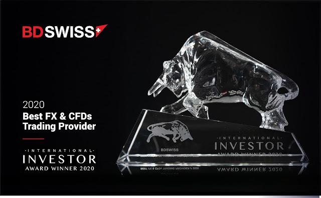 BDSwiss Dianugerahi Sebagai Penyedia Perdagangan FX & CSD Terbaik Tahun 2020 - Dari Majalah Investor Internasional