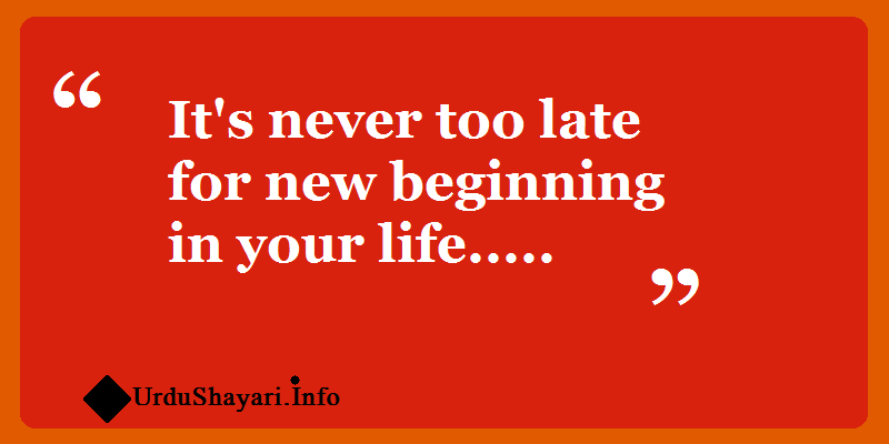new beginning quotes,  Start life again