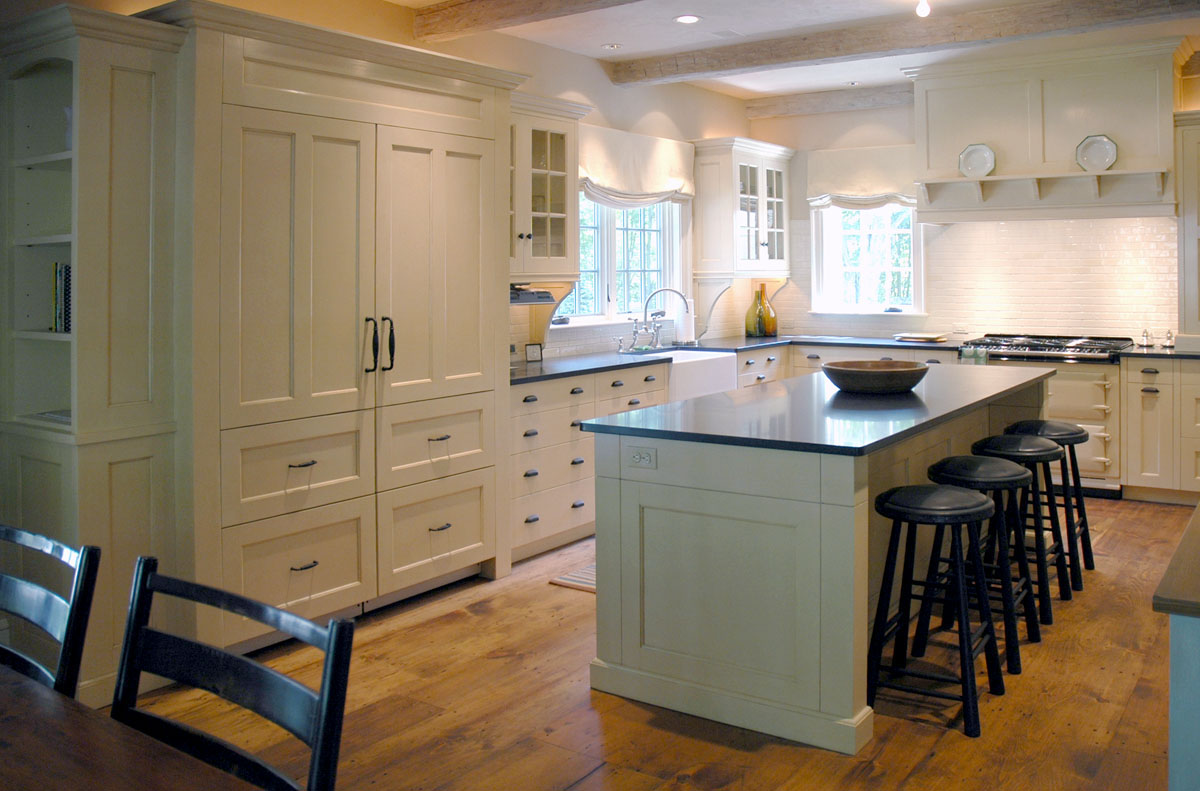 Custom Kitchen Islands Sink Pendant Light Dorset Furniture A Woodworkers Photo Journal The Another View Of It Rest And Reclaimed Chestnut Stools Are Ours Too