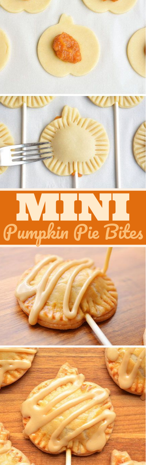 Mini Pumpkin Pie Pops #desserts #pumpkin