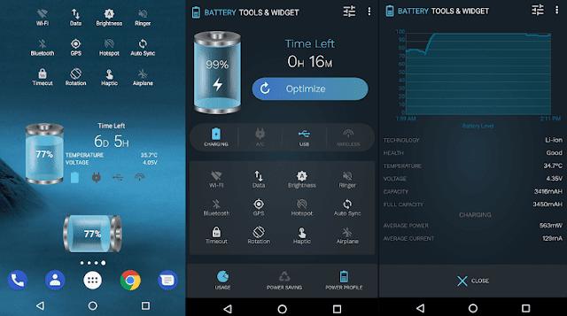 Battery Tools aplikasi penghemat baterai android