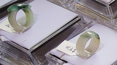 Jade rings from one piece