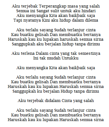 Lirik Lagu Dilema Dewi Persik