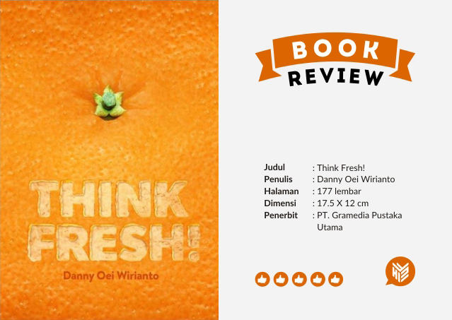 [DESIGN AND CREATIVITY] KARTU NAMA BUKU THINK FRESH KARYA DANNY OEI WIRIANTO