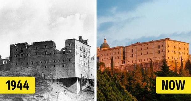Nằm trên đỉnh một ngọn đồi, Monte Cassino là một tu viện nổi tiếng nhất ở Ý và trước đó từng được xem là vị trí đắc địa của nước này. Cuối cùng, nó đã bị bỏ lại cùng đống đổ nát sau một vụ đánh bom vào tháng 2/1944. Hầu hết những đồ vật liên quan đến tu viện đều được giữ lại và chuyển đến Vatican trước khi bắt đầu chiến tranh. Công việc phục hồi tu viện Monte Cassino đã hoàn thành vào năm 1964.