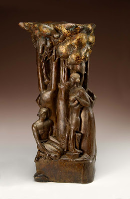 Samuel Grubers Jewish Art Monuments July - This beautiful bronze sculpture has been attached to a tree since 1968