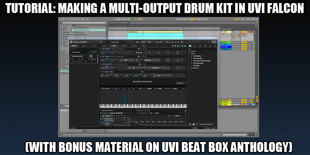 Ultimate Outsider: Tutorial: Making a Multi-output Drum Kit