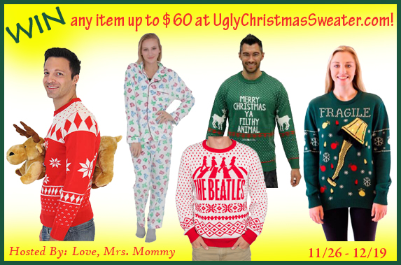 UglyChristmasSweater.com $60 Gift Card Giveaway!