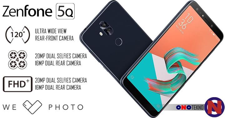 """ASUS ZenFone 5Q """" Smartphone Pertama Kali Asus Dengan 4 Kamera Fotografi """""""