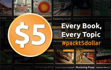 Surachart Opun's Blog: Packt - The $5 eBook Bonanza is here!