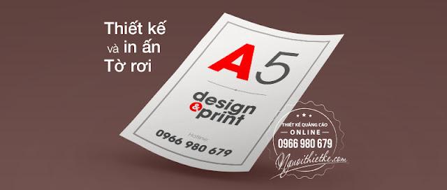 in tờ rơi giá rẻ, miễn phí thiết kế với số lượng 5.000 tờ trở lên