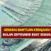 Senarai Bantuan Kerajaan Sepanjang Bulan September Buat Semua Golongan
