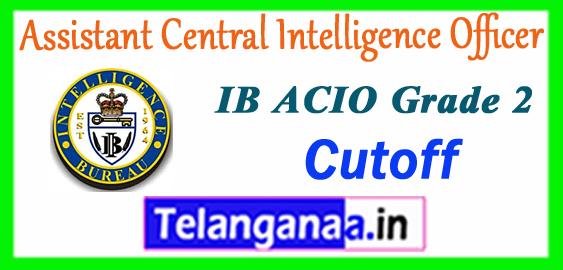 IB ACIO Intelligence Bureau Assistant Central Intelligence Officer Grade 2 Cut off 2017 Merit List Result