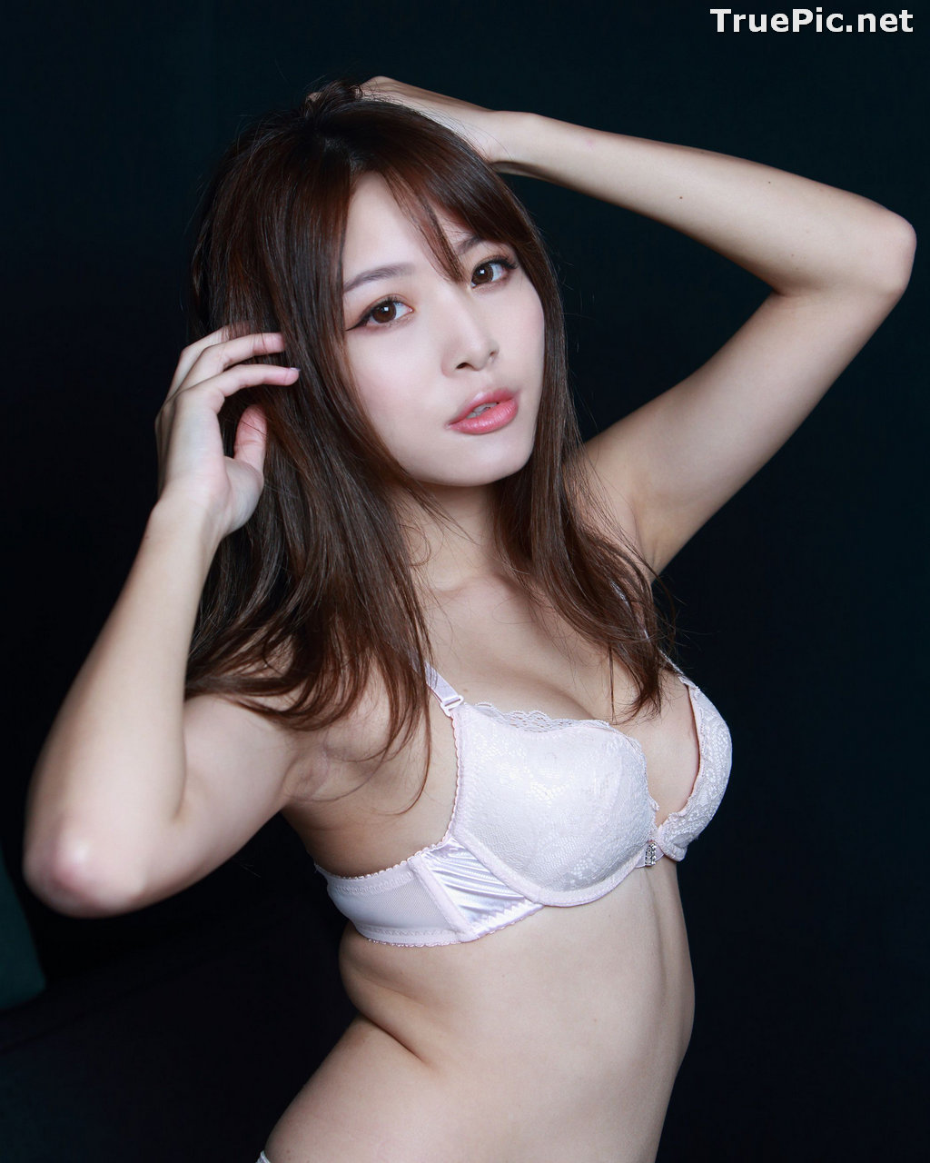 Image Taiwanese Model - Ash Ley - Sexy Girl and White Lingerie - TruePic.net - Picture-6