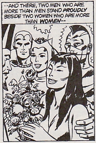 Giant-Size Avengers #4, The weddings of the Scarlet Witch, the Vision, Mantis and the Swordsman/Cotati plant person