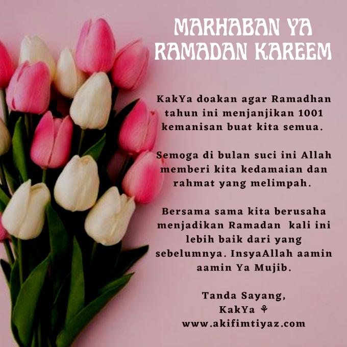 Marhaban Ya Ramadhan Kareem
