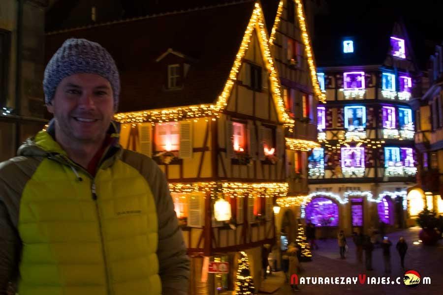 Antonio Ruiz en el Mercado de Navidad de Colmar, Alsacia
