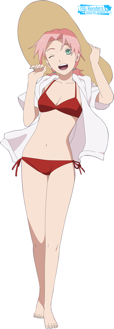 Tags: Anime, Render,  Full body,  Haruno Sakura,  Naruto,  Small breasts,  PNG, Image, Picture