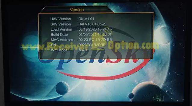OPENSKY HD 265M 1507G 1G 8M NEW SOFTWARE 5 JANUARY 2021