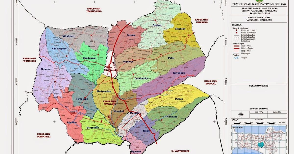 Peta Kota: Peta kabupaten Magelang