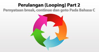 Perulangan (Looping) Part 2 : Pernyataan break, continue dan goto Pada Bahasa C