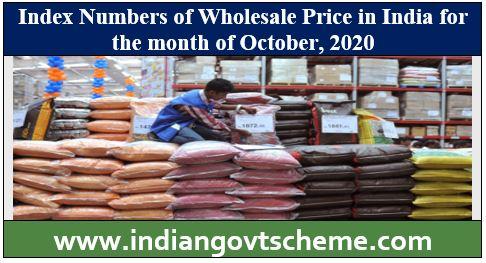 Index humbers of wholesale price