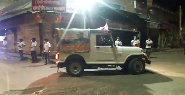 चिड़ावा डीवाईएसपी आर.पी. शर्मा के नेतृत्व में पुलिस ने निकली जागरूकता रैली