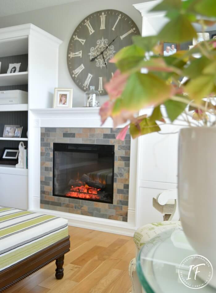 DIY Living Room Wall Clock