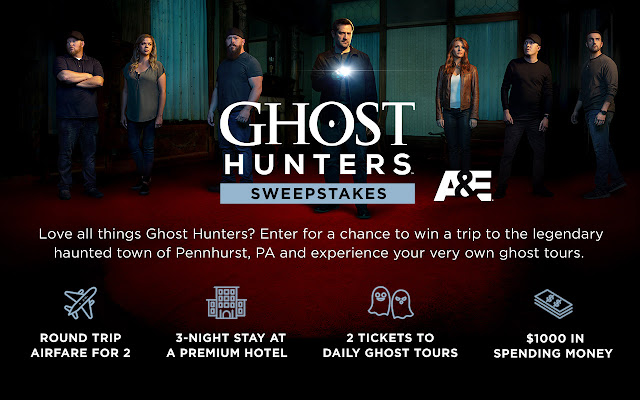 Love all things Ghost Hunters? Enter for a chance to win a trip to the legendary haunted town of Pennhurst, Pennsylvania for your own ghost tour!