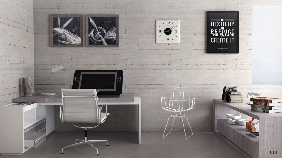 20 desain ruang kerja minimalis ~ rumah minimalis