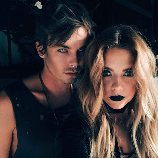 PLL Actors Ashley Benson and Tyler Blackburn as Vampires for Halloween