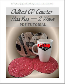 CD Coaster Mug Rug by eSheep Designs