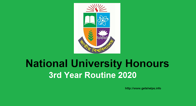 National University Honours 3rd Year Routine 202