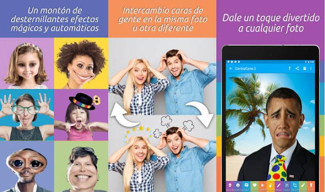 Las 5 apps más populares de la Google Play en 2016: Cambia Caras 2