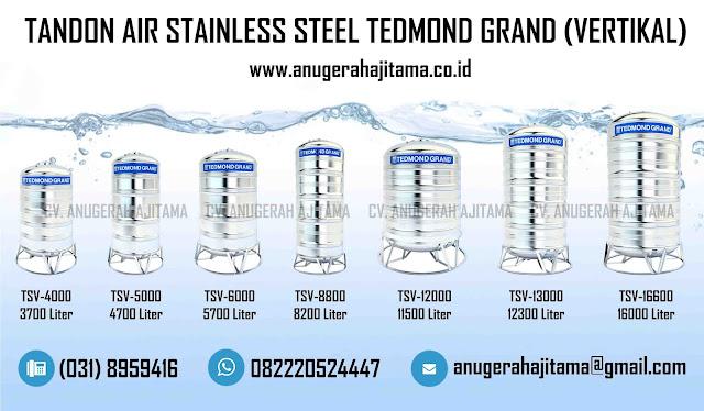 Tangki Air Stainless Steel Tedmond Grand