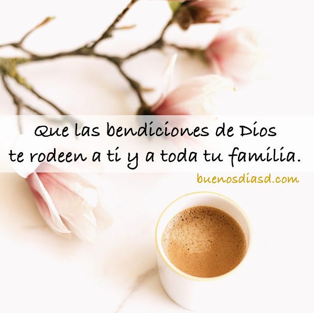 lindas frases cristianas de buenos días con bendiciones de Dios para la familia