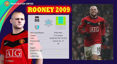 PES 2021 Faces Wayne Rooney 2009 by Andri Mod