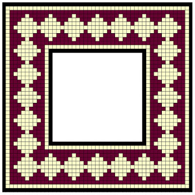 Mosaic borders enhance the visibility of a mosaic like a wooden frame enhances our enjoyment of painting.