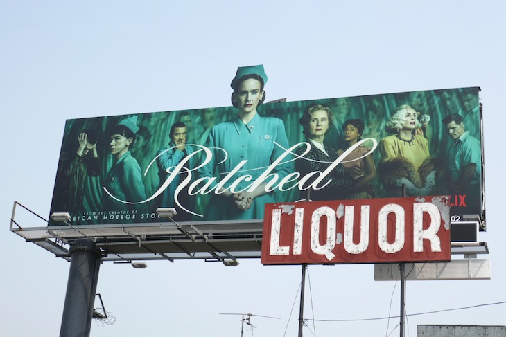 Ratched series launch billboard