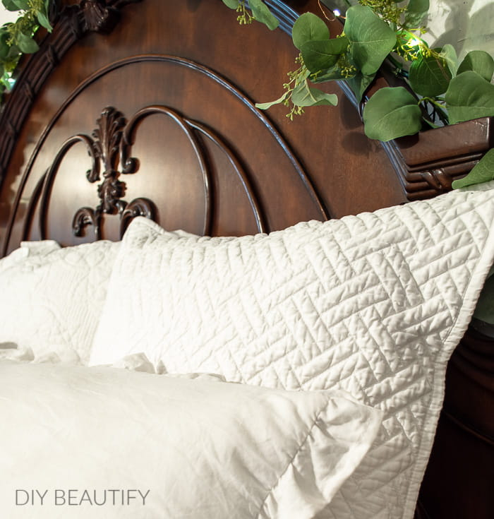 quilted Euro pillows