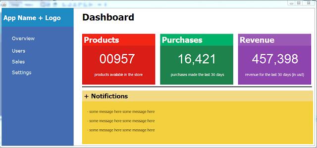 Dashboard Design In Java Netbeans
