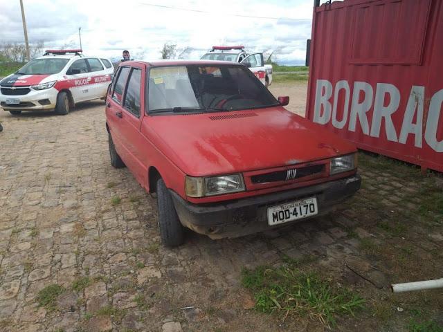 Policia Militar recupera em Sousa veiculo furtado na cidade de Catolé do Rocha