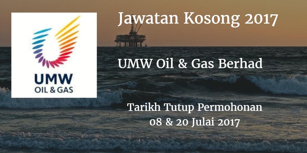Jawatan Kosong UMW Oil & Gas Berhad  08 & 20 Julai 2017