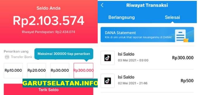 Cair 300 Ribu Perhari Begini Cara Mendapatkan Uang Dari Aplikasi Tiktok Lite