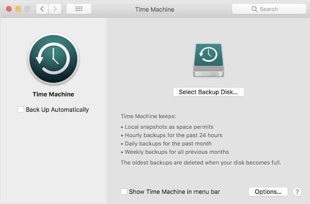 Backup semua data penting di MacBook