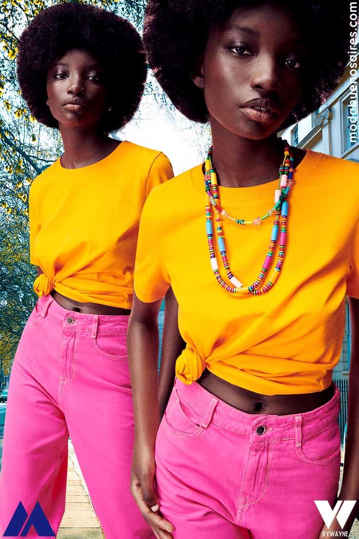 Pantalones de colores rosa verano 2022
